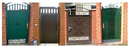 Калитка в откатных воротах